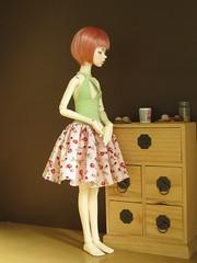 Acedia - spring dress (v-praline) Tags: body handmade bjd dollfie dim crocheted msd acedia dollzone dimlarina
