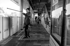 Over yonder! (subajogu) Tags: people japan train publictransportation transport strangers okinawa monorail asiasociety myobservation