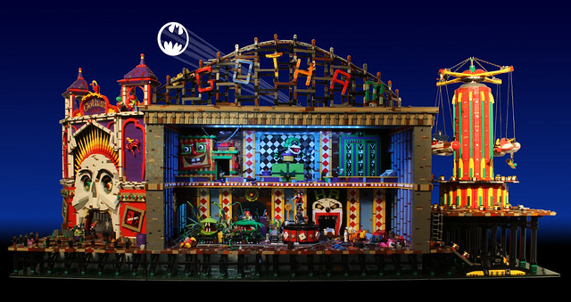 "宿敵反派全數登場!超生動的LEGO 蝙蝠俠場景""Joker's Funhouse"""