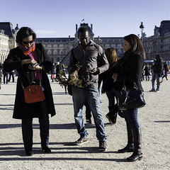 Rich of many towers (Sergi Wave) Tags: street winter sun paris france streets tower canon toy louvre streetphotography wave sunny eiffel le 5d 40 pancake 40mm sergi seller cour sellers stret 2013