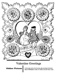 valentine greetings hidden pictures (Al Q) Tags: game love john children couple heart picture highlights valentine puzzle hidden cupid gee greeting