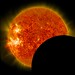 SDO Lunar Transit, Prominence Eruption, and M-Class Flare