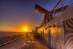 Sunrise at Carnival Miracle in the middle of ocean just outside Cabo San Lucas (arashaghassi) Tags: carnival sunrise cabo san miracle lucas