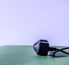 Plug It!! (BGDL) Tags: black minimal electricity plug electro tabletop niftyfifty 7daysofshooting nikond7000 bgdl lightroom5 nikkor50mm118g minimalsunday week32blackandorwhite