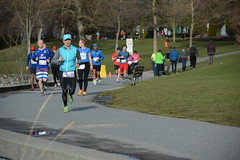 First Half Feb 16 2014 095527 (gherringer) Tags: canada vancouver race outdoors athletics downtown bc exercise britishcolumbia competition running seawall runners englishbay stanleypark colourful westend fit active bibs 211km 131mi vanfirsthalf