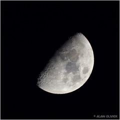 Lune gibbeuse ascendante il y a quelques minutes