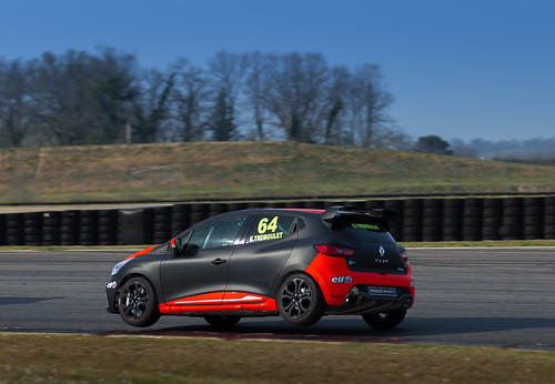 Eric Trimoulet, champion Clio Cup France. Club ASA au Circuit Paul Armagnac, Nogaro, France le 14 mars 2013 - Club ASA - Image Photo Picture