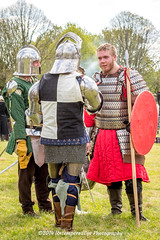[2014-04-19@15.35.46a] (Untempered Photography) Tags: history costume helmet medieval weapon sword knight shield armour reenactment combatant chainmail spear canonef50mmf14 perioddress polearm platearmour gambeson poleweapon mailarmour untemperedeye canoneos5dmkiii untemperedeyephotography glastonburymedievalfayre2014