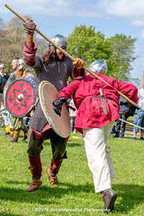 [2014-04-19@11.24.37a] (Untempered Eye) Tags: history costume fight helmet medieval tournament weapon shield combat armour reenactment skirmish combatant chainmail spear canonef50mmf14 perioddress polearm poleweapon mailarmour untemperedeye canoneos5dmkiii untemperedeyephotography glastonburymedievalfayre2014