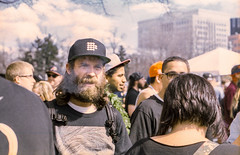 Andrew (Ryan n the Planet) Tags: man film spring weed kodak rally denver 420 burn minoltasrt101 joint expiredfilm 2014 portra400 publicsmoking