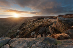 Kinder Scout (Paul Newcombe) Tags: uk winter sunset mountain river landscape countryside nationalpark rocks peakdistrict british february gritstone kinderscout 2014 canon1740l grindsbrook derbsyshire peakdistrictphotography paulnewcombephotography eflae