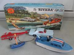 Riviera Set (mac110uk) Tags: ski water car childhood toy boat buick corgi model cabin riviera memories m 1960s trailer cruiser