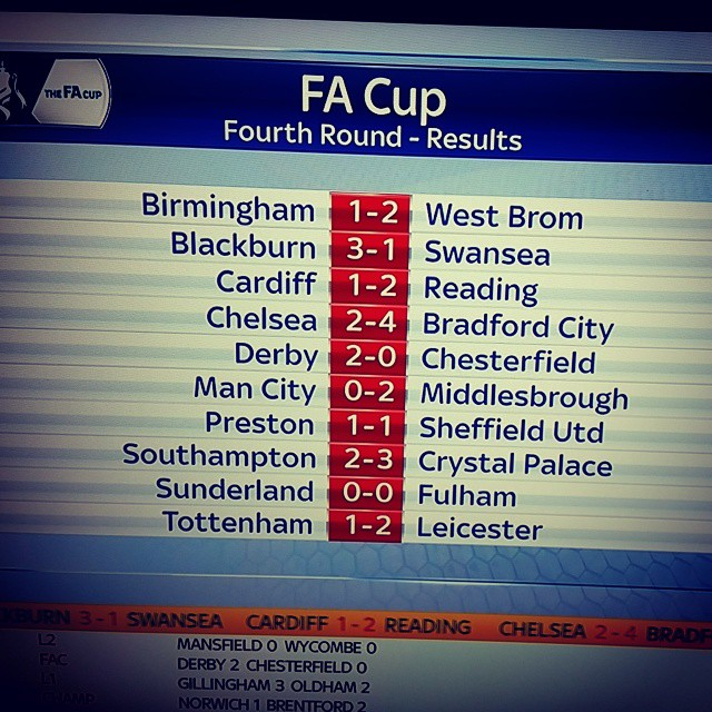 Result Fa Cup Today