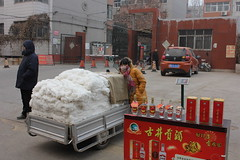 cotton seller, Anyang, China