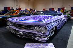 1960 Pontiac Bonneville (bballchico) Tags: paint flames chopped pontiac custom bonneville pinstripe 1960 kustom carart channeled grandnationalroadstershow kylegann kdaddy staciegann kkustoms