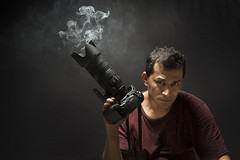Dont Hunt .... What You Can't Kill .... !!! (|MBS-..|) Tags: red portrait black nikon smoke flash selfie d700 d800e