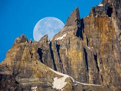 Daylight Moon (Banff, Canada. Gustavo Thomas © 2014) (Gustavo Thomas) Tags: park travel sky naturaleza moon mountain canada nature lune daylight albert canadian luna adventure banff montaña morainelake