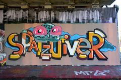 graffiti in amsterdam (wojofoto) Tags: amsterdam graffiti wojofoto hof amsterdamsebrug flevopark spatzuiver wolfgangjosten nederland netherland holland