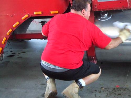Trucker hairy ass