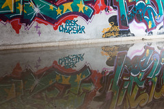 Graffiti. (carlosgsanmillan) Tags: madrid street espaa art abandoned water wall canon pared graffiti reflex spain agua arte convento reflejo streetphoto convent pintura streetshot urbex abandonado goloso