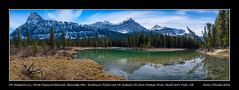 Mt. Chephren (L), White Pyramid (behind), Epaulette Mountain, Kaufmann Peaks and Mt. Sarbach (R) from the Mistaya River, Banff National Park, Alberta (kgogrady) Tags: trees panorama canada mountains water grass clouds landscape spring afternoon pano noone sunny ab nopeople alberta fujifilm fujinon banffnationalpark parkscanada mtchephren canadianrockies 2016 westerncanada canadianmountains canadianriver mountchephren xt1 canadiannationalparks canadianlandscapes mistayariver cans2s whitepyramid albertalandscapes epaulettemountain mtsarbach kaufmannpeaks kauffmanpeaks xf1855f284ois canadianrockieslanscape fujifilmxt1