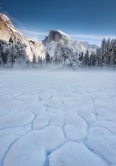 Icy Veins of yosemite! (Tarun Kotz) Tags: california winter snow tree ice nature water landscape meadow yosemite dome half halfdome yosemitenationalpark veins cooks northdome