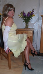 10 Sideswipe (janegeetgirl2) Tags: stockings yellow contrast vintage tv high glamour opera bra crossdressing full tgirl gloves transvestite copper heels slip crossdresser ts nylon petticoat stilettos fully nylons garters fashioned seams