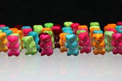 Do they come in peace? (unnamedcrewmember) Tags: colors colorful neon candy gummibrchen bears alien illuminated sweets radioactive catchy haribo gummy phosphorescence goldbren illuminiert auserirdische phosphoreszenz