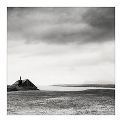 With A View (gerainte1) Tags: sea blackandwhite mamiya film wales landscape llynpeninsula