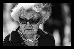Serious lady (Frank Fullard) Tags: street portrait sunglasses lady glasses serious candid fullard frankfullard