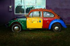 Binky's Sausage Emporium and Daycare (Studio d'Xavier) Tags: vw bug volkswagen colorful beetle daycare binky clowncar sausageemporium