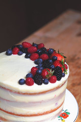Berry Chantilly (Christine Marie Gordon) Tags: summer cake fruit strawberry pretty blackberry creative fresh blueberry homemade bakery raspberry vanilla bake foodart cakedecorator nakedcake stackedcake