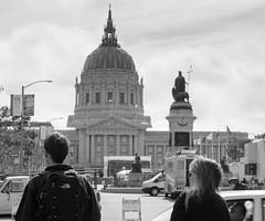 City Hall, June, 2016 (Michael Dunn~!) Tags: sanfrancisco bw cityhall streetphotography civiccenter streetfoto photowalking photowalking20160608