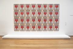 campbell's soup cans,  andy warhol, museum of modern art (twurdemann) Tags: newyork art gallery unitedstates manhattan moma museumofmodernart popart silkscreen andywarhol prints soupcans campbellssoupcans fujixt1 2016tripnewyork