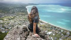 Above Waimanalo (Marvin Chandra) Tags: ocean landscape hawaii oahu hiking hiker 24mm waimanalo 2016 d600 landscapeportrait marvinchandra katsweets yukisuki