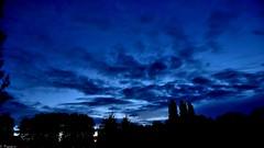 Mystic Sky (Mystycat =^..^=) Tags: sky silhouette night clouds ciel arbres nuages paysage nuit