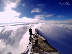 On the Edge (lucamondardini) Tags: blue italy white snow mountains alps clouds landscape rocks valle crest edge naure alpinism daosta