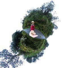 Warped mountain pass. If you look real close you can see Savannah-girl. #theworldwalk #travel #colombia #savannahtww