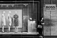The Mannequins-In-Waiting (CVerwaal) Tags: nyc blackandwhite usa ny newyork mannequins timewarnercenter sonyrx100iii