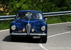 DSC_6563 - Alfa Romeo 6C SS Villa d'Este - 1950 - Brozzetti Sandro - RIAR (pietroz) Tags: silver photo foto photos flag historic fotos pietro storico zoccola 21 storiche vernasca pietroz