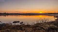 Magic midnight (AngryTheInch42) Tags: sunset summer lake water reflections rocks sweden arctic kiruna midnightsun