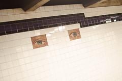 All-seeing-not-caring eyes (zac evans photography) Tags: city nyc urban newyork brooklyn subway island eyes mural metro queens manhatten staten yaszacevansphoto
