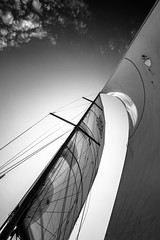 canvas (b&w) (Markus Trienke) Tags: ocean travel sea sky bw white black lines clouds canon de deutschland eos boat sailing ship balticsea sail schleswigholstein 70d waabs