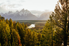 Snake River Overlook in Grand Teton National Park (Atibordee_K) Tags: park mountains nature america forest us unitedstates grand national teton the