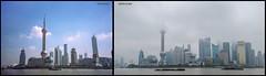 Die Skyline von Shanghai im Wandel der Zeiten - 2002 vs. 2013 (joergpeterjunk) Tags: skyline outdoor shanghai canonpowershotsx40hs wolkenkratzer