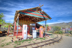 The ghost town of Chloride, Arizona (ap0013) Tags: railroad arizona home station train town ghost rail az gas gasstation restored ghosttown residence chloride chloridearizona chlorideaz