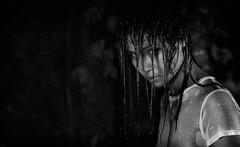 Rainy night mood II (polo.d) Tags: portrait white black girl monochrome beauty face rain weather asian sadness mood moody sad dramatic