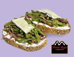 Tostada de queso, esprragos y jamn ibrico Monte Regio (Monte Regio) Tags: ham monte jamn regio ibrico