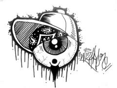 graffiti sticker one eye (marcomacedo3) Tags: cholowiz graffiti sticker nazer26 mtsk paste stamp slaps collabs spraycan trade