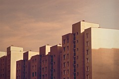 26440012 (Marcin Kubiak) Tags: city urban tower architecture analog concrete xpro cityscape crossprocess grain poland warsaw blocks zenit warszawa homeland filmphotography believeinfilm ursynow